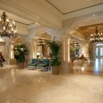 Ritz Carlton lobby. Materials supplied by The Stone Quarry