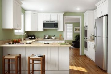 ice-white-shaker-kitchen-cabinets-simple crown (1)