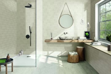 Albatross Cream 3x12 ceramic wall tile by Tesoro
